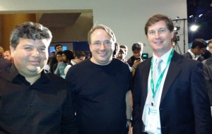Carlo Arenas, Linus Torvalds and Daniel Pocock